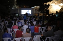 Film on the Rubble of Al- Meshal Cultural Center