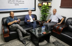 Press House Receives a Delegation from OCHA