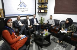A Delegation of the Irish Representation in Palestine visits the Press House