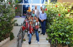 A delegation of Al-Amal Institute for Orphans visits the Press House