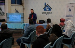 "Press House organizes a legal awareness workshop on the topic of ""Legal Protection for Journalists During the Palestinian Public Elections"""
