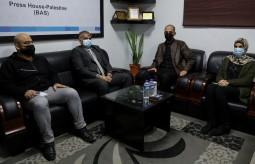 Press House receives a delegation from Media Department at Al-Aqsa University