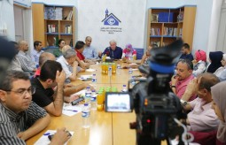 The Press House holds an encounter among the Press and the Director of UNRWA Operations.