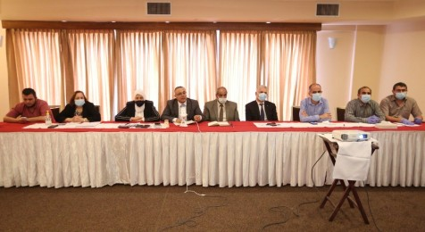 "Press House organizes a dialogue meeting ""Face the Press"" with the ministerial delegation in the Gaza Strip"