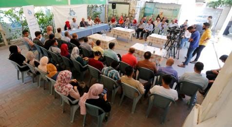 Press House organizes a discussion meeting with the mayor of Gaza Strip Dr. Yahya Al Saraj