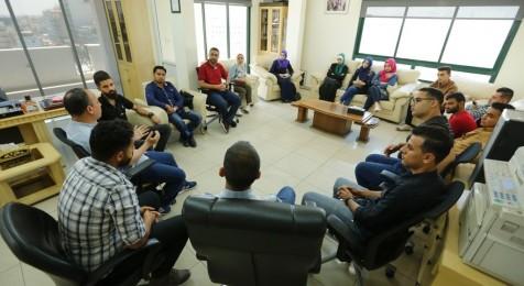 The Press House organizes a field trip for International News Agencies in Gaza