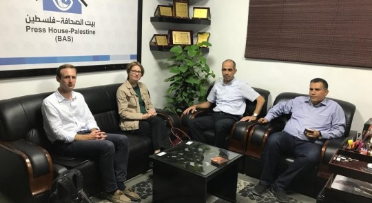 The British Government Spokesperson of the Middle East visits the Press House
