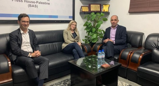 The Representative of Canada to the Palestinian Territories visits the Press House