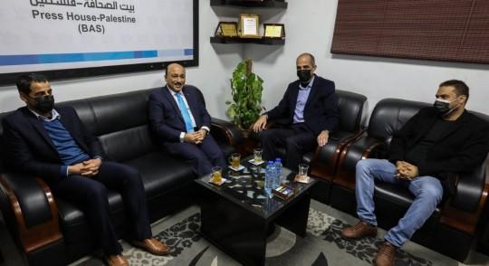 Former Minister Dr. Mufid Al-Hasaina visiting Press House