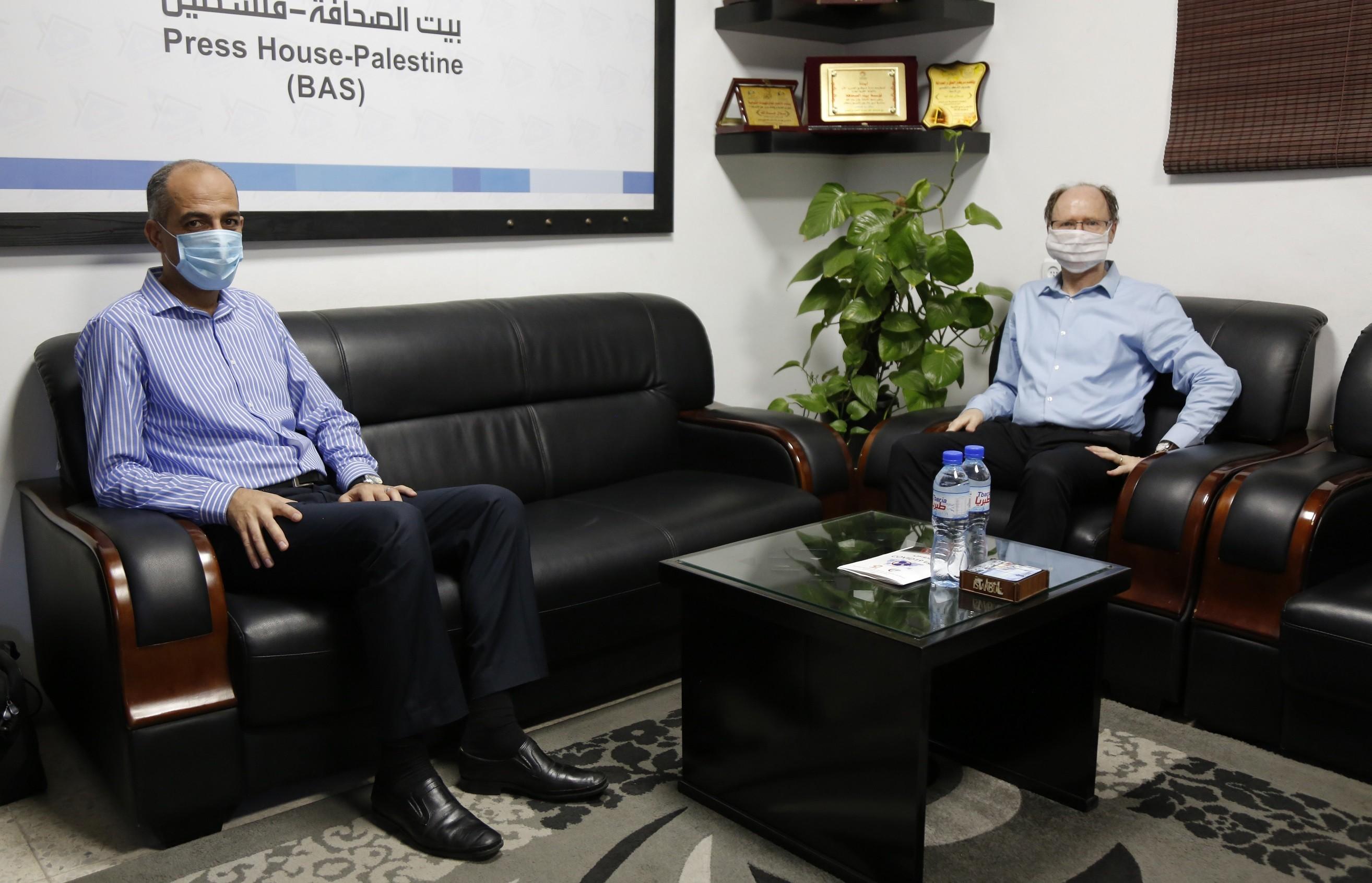 UNESCO's Gaza Office Director Visits Press House – Palestine