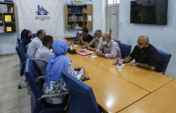 Press House receives a delegation from Faculty of Media at Al Aqsa University.