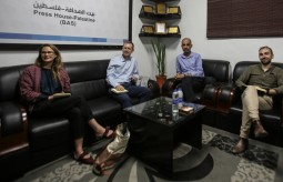 The Irish Ambassador and his Deputy in the Palestinian territories visited Press House