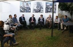 Representative of Switzerland Paul Garnier visits Press House in Gaza