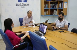 Press House holds the annual meeting with donors of Strengthening Free & Independent Media in Palestine Project