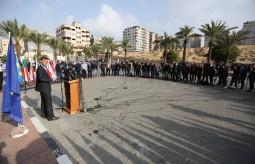 Press House supervises the media coverage to organize the visit of European Union ambassadors to Gaza