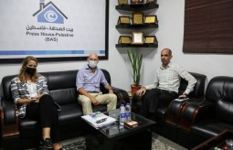 Netherlands Ambassador in the Palestinian Territories visits Press House