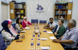 A representative from European Union office visits Press House