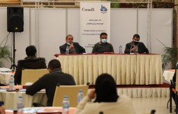 Press House organizes a dialogue session with the Deputy Head of Palestinian Journalists' Syndicate and the Legal Protection Unit for Journalists