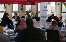 "Press House organizes a dialogue session on the topic of ""How Journalists Covering the Election Process Professionally & Independently"" in partnership with Central Elections Commission southern Gaza strip"