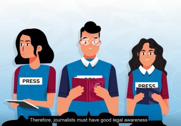 "Press House Publishes a Motion Graphic Video on the topic of ""Raising the Awareness Level of Journalists in Palestine"""