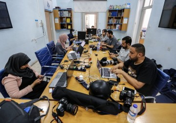 Press House open its doors to receive journalists that their offices were bombed and destroyed during the current escalation in the Gaza Strip
