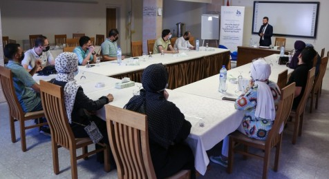 """Press House holds a legal awareness session on the topic of """"Journalist Right in Occupational Safety in light of Palestinian Law"""""""