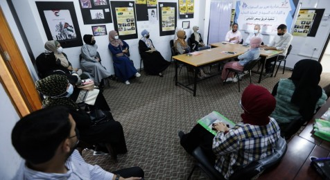 "With Press House Sponsorship, ""Youth seeks"" team in the Gaza strip implements an initiative on the topic of ""Strengthening the Role of Women Journalists and Leaders in the Electoral Process"""