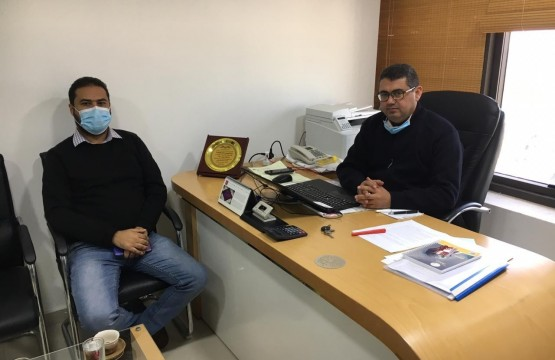 The Legal Protection Unit for Journalists visits a number of media and radio organizations in the Gaza strip