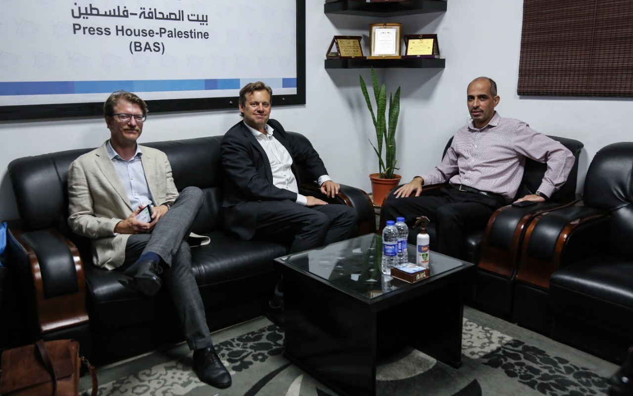 The Deputy of Norwegian Ambassador in the Palestinian Territories visits Press House