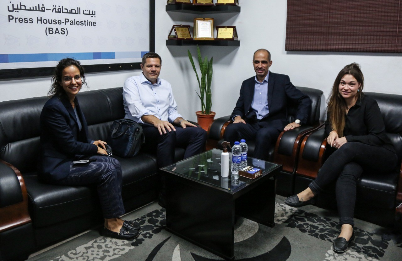 The Swiss Ambassador in the Palestinian Territories visited Press House