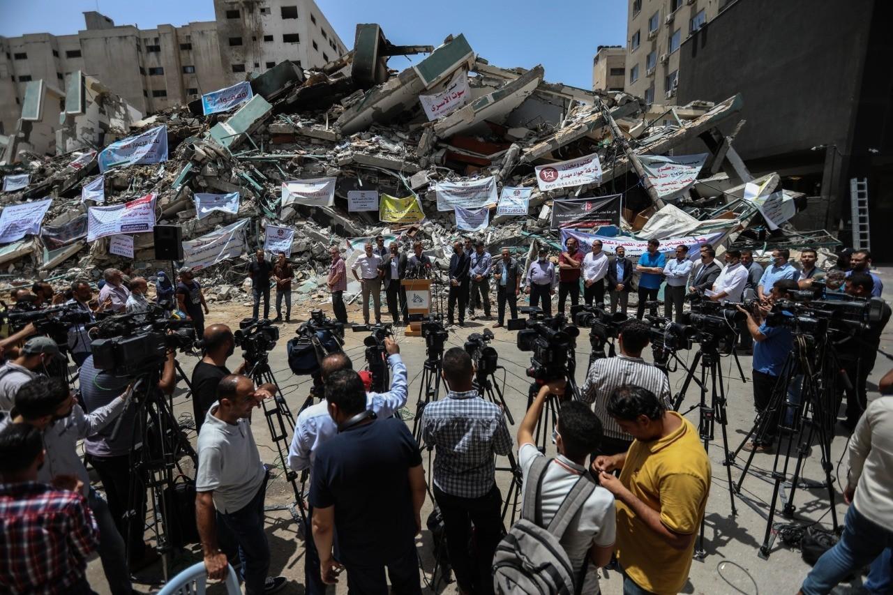Press House supervising media arrangements for European Union Representative in Palestine visit to Gaza Strip.