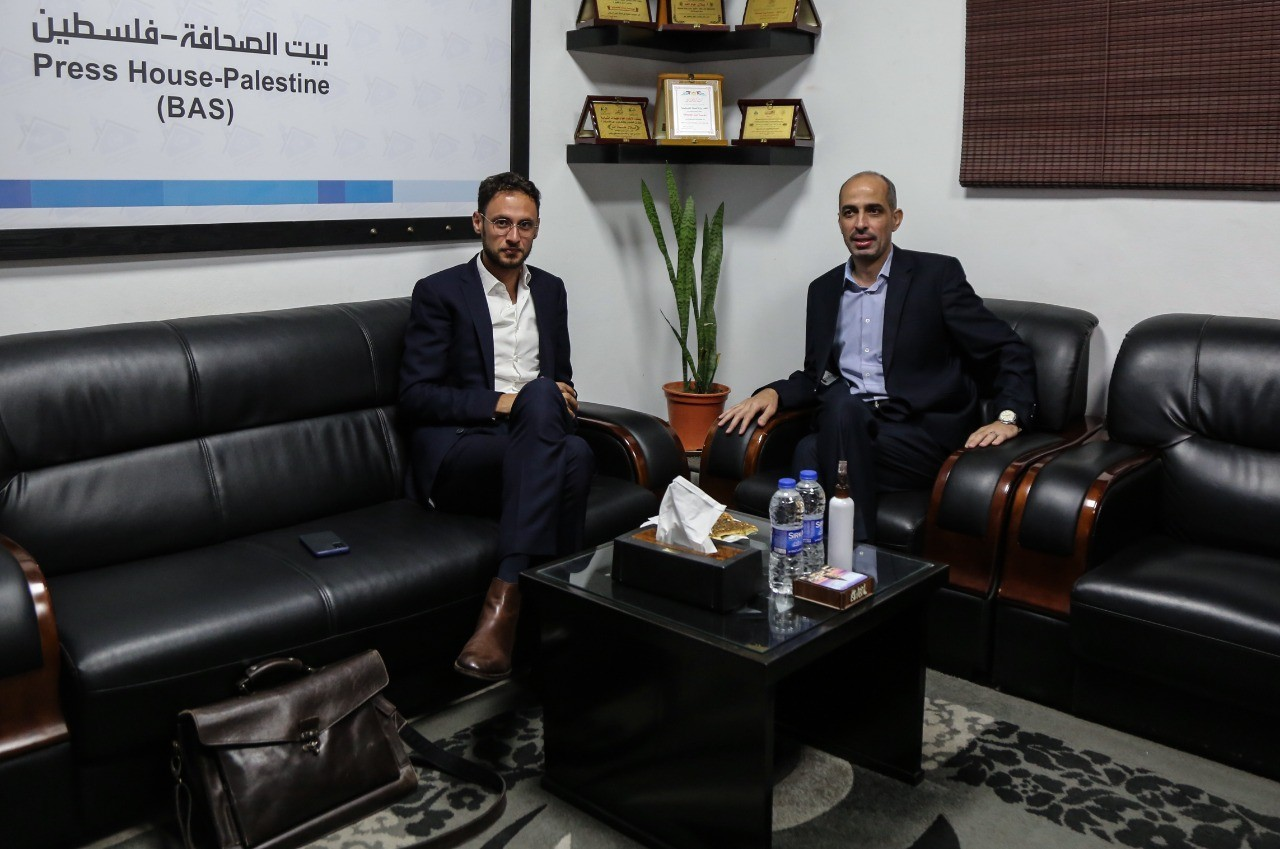 Belgian Embassy Counselor in the Palestinian Territories visits Press House
