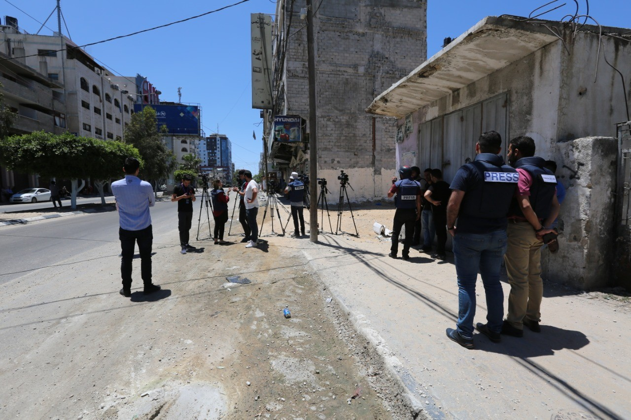 Press House publishes a newsletter on Violations against Media Freedoms in the Gaza Strip during the current escalation (18th May, 2021)