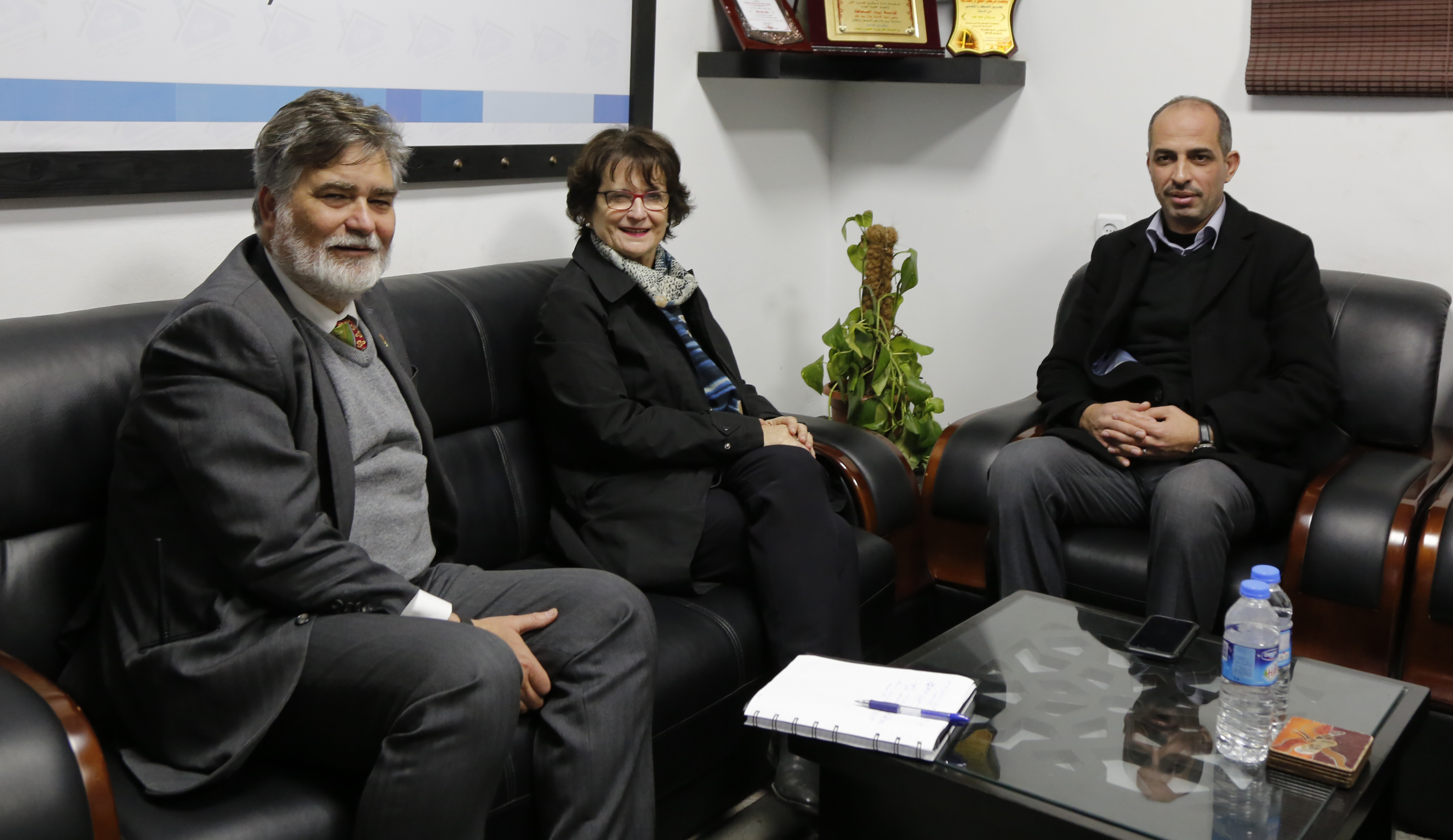 The Canadian Ambassador and the Canadian Consul visit to the Press House